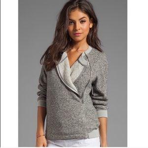 Theory Sonan Moto Side Zipper Sweatshirt Sweater